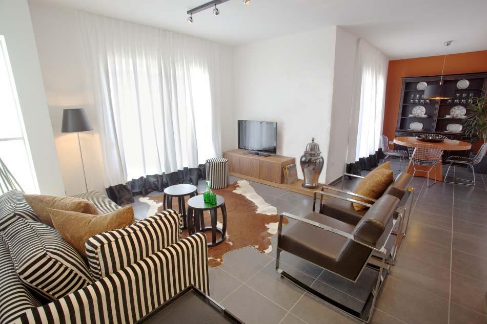 חלל ציבורי בדירה בצפון תל-אביב, מבט כללי
