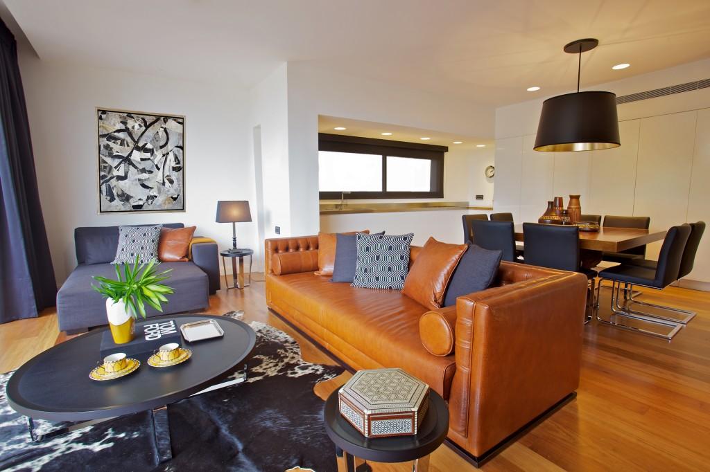 דירת גג במרכז תל-אביב - חלל ציבורי