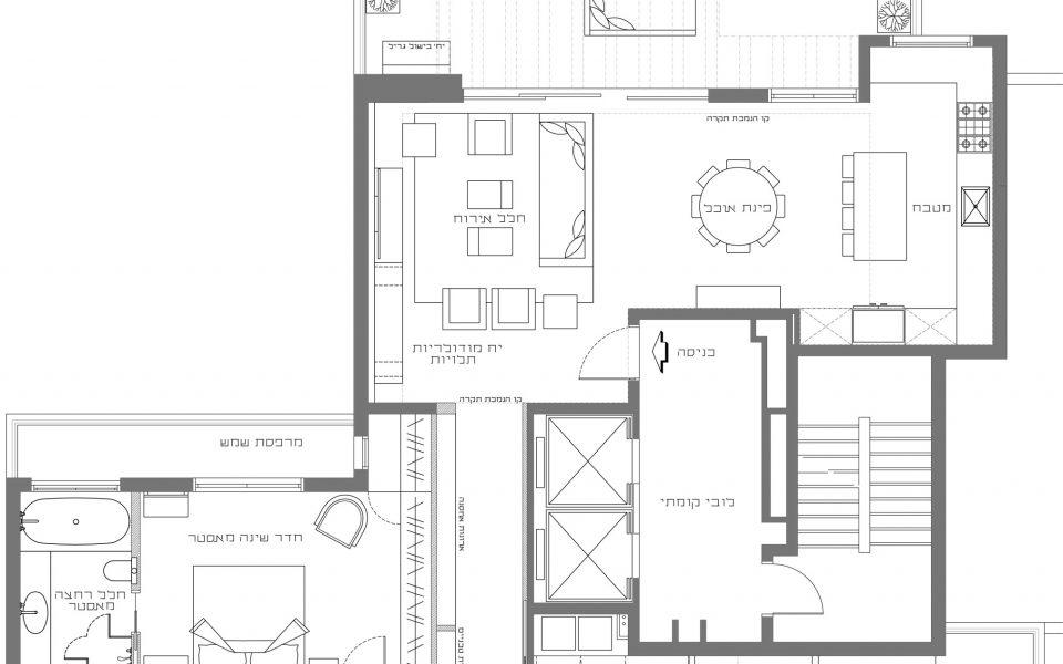 דירת 300 מטר במרכז תל-אביב - תוכנית