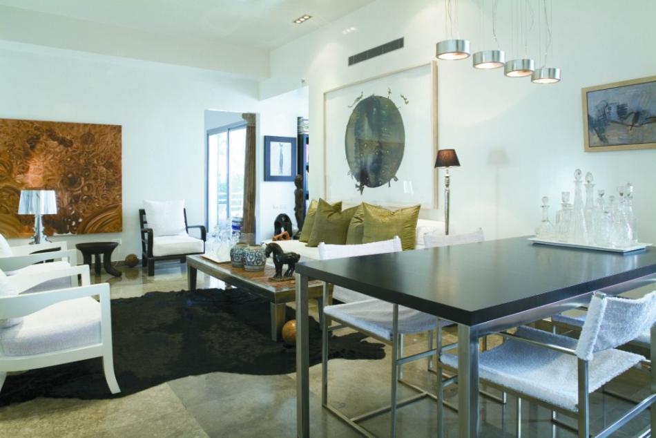 דירה במרכז תל-אביב – חלל מגורים