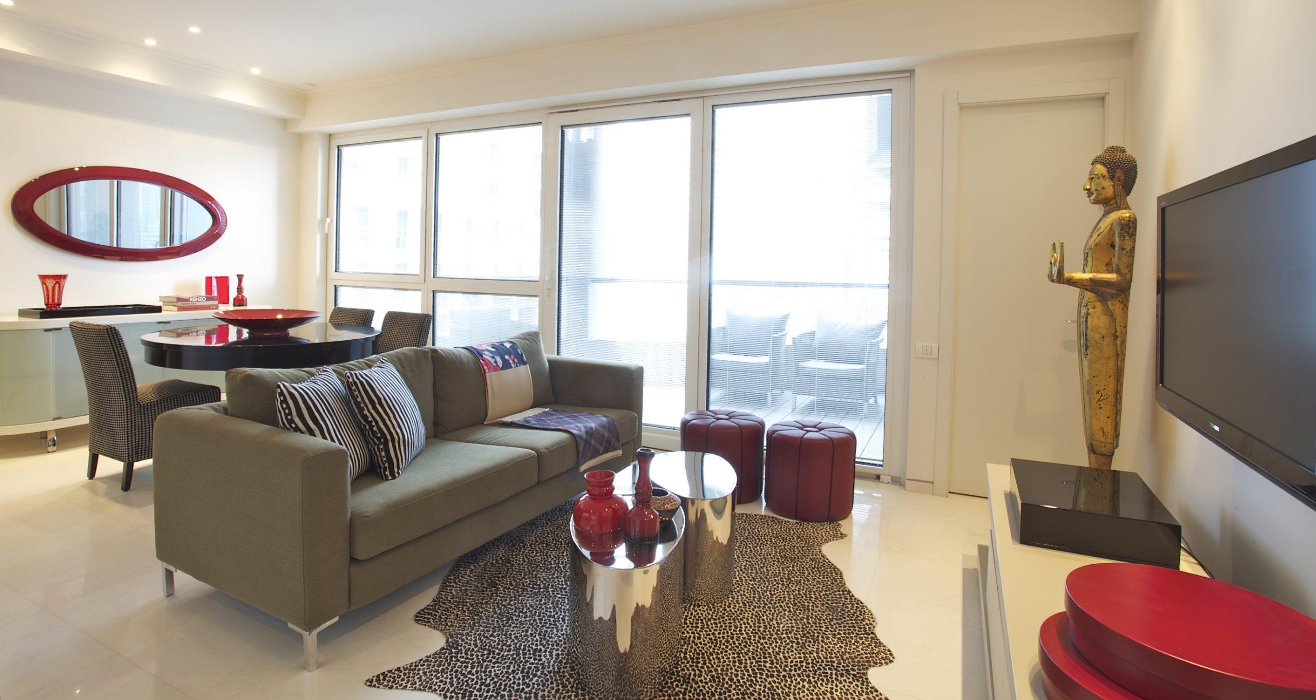 דירה במגדל YOO – חלל מגורים